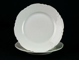 """Hutschenreuther Racine Bread Plates 2 pc Set, Antique All White Dessert 6 1/4"""" - $14.70"""
