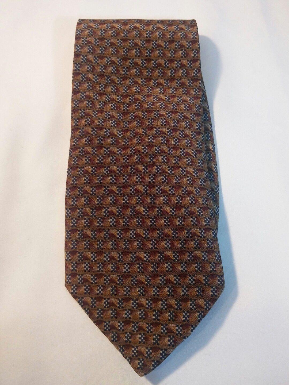 Geoffrey Beene Mens 3 Ties + CashMe Green Plaid Acrylic Scarf Handmade Silk Tie image 10