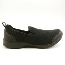 Vionic Womans Roza Slip On Round Toe Sneaker Black Fabric Upper Cushioned 8M - $59.39