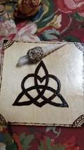 Alter tile  love knot triquetra Celtic heart trinity eternal love knot - $10.00