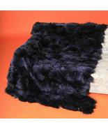 Deep Purple Fox Fur Blanket Bedspread Throw - $227.70+