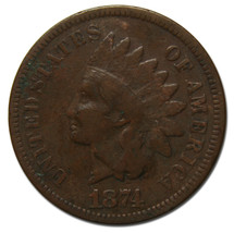 1874 One Cent Indian Head Penny Coin Lot# MZ 3782