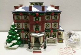 Dept 56 holiday Snow Village OLD CHELSEA ceramic MANSION house in box/ n... - $37.37