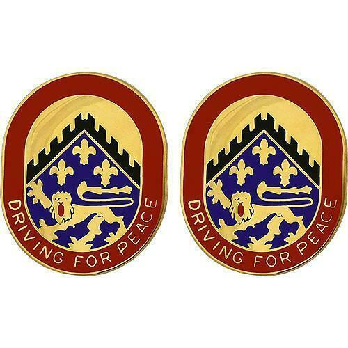 GENUINE U.S ARMY CREST: 44TH SUPPORT BATTALION - DRIVING FOR PEACE - $17.80