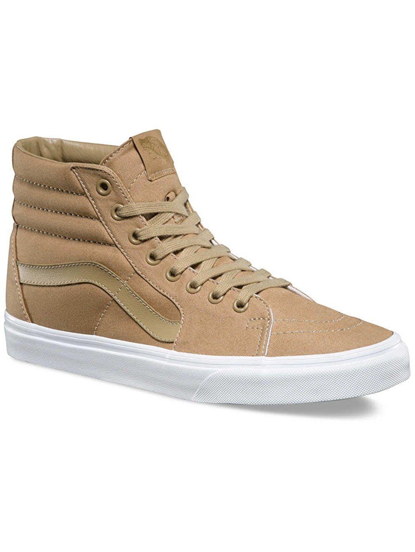 3c60f240abe182 57. 57. New Vans Unisex Sk8-Hi MONO CANVAS KHAKI TRUE WHITE Skate Shoes  Mens 6.5. Free Shipping