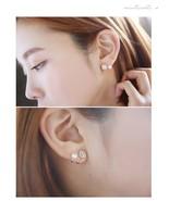 BAHYHAQ -  Pearl Jewelry Snowflake Sweet Gold/Silver Color Stud Earrings - $1.50