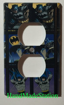Batman Comics USPS Stamps Light Switch Power Outlet Wall Cover Plate Home decor image 2