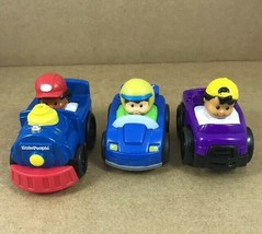 Fisher Price Little People 2 Race Cars & 1 Train  Lot Of 3 - $7.38