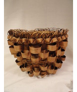 New England Eastern US Indian Twisty Curl Woven Trade Basket No lid - $24.99