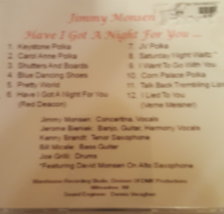 Have I Got a Night For You by Jimy Monsen Cd  image 2