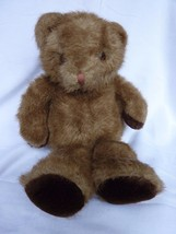 "Russ Carnaby Bear Plush Teddy 14"" Stuffed Animal Brown Vintage Very Soft - $18.57"