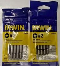 """IRWIN 3520075B #2 x 2"""" Phillips Power Screw Bit Tips 2 - 5 Packs - $5.94"""