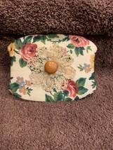Custom Cloth Wooden Lid Basket Flower - $12.50