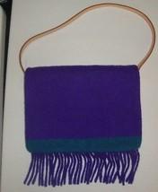 Ralph by Ralph Lauren Purple Wool Blanket fringe southwestern handbag CUTe  - $69.29