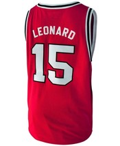 Kawhi Leonard #15 College Basketball Custom Jersey Sewn Red Any Size image 2