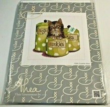 THEA GOUVERNEUR CROSS STITCH KIT #735A Kitten Cats Cookie Time Jar NEW - $19.99