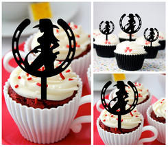 Decorations Wedding,Birthday Cupcake topper, sexy cowgirl horseshoe : 10 pcs - $10.00