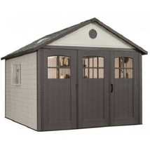 Lifetime 11x13 Plastic Storage Shed w/ 9ft Wide Doors [60187 / 0125] - $3,053.58
