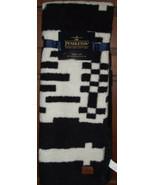 Pendleton Black & White Throw Blanket Aztec 50 x 70 NWT Geometric Sherpa... - $65.33