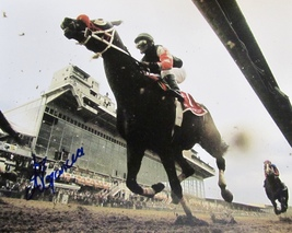 Alan Garcia Autographed Hand Signed Horse Racing 8x10 Photo w/coa - $37.99