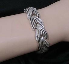 Trifari Silvertone Leaf Bracelet Vintage Signed 7 inches - $37.73