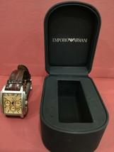 Emporio Armani Men's Watch Chronograph Brown Leather Strap AR-0479. - $85.95