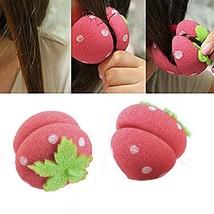 CCbeauty 18 pcs Strawberry Hair Care Foam Soft Round Sponge Balls Curlers Hair R