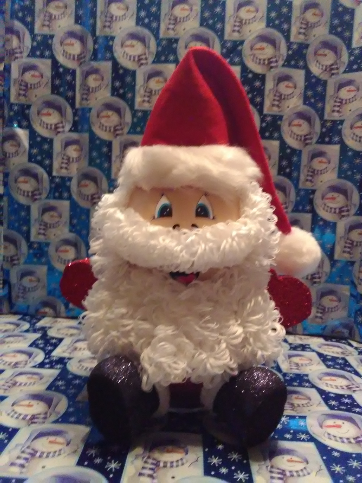 Primary image for Handmade Glass Christmas Santa Claus