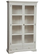 Biscottini Country-Style Solid Lime Wood Antiqued White Finish W109xDP36... - $2,235.30