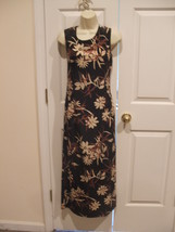 New in pkg newport news  $89 tropical floral  long maxi sleeveless dress size 6 - $39.59