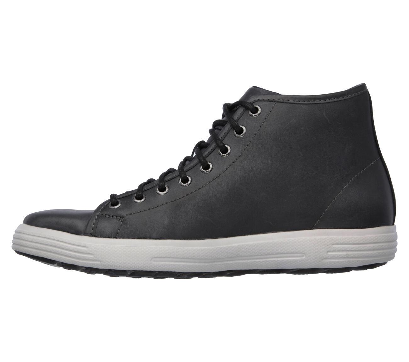 Men's SKECHERS Skech-Air: Porter - Stern Casual Shoe, 64742 BLK Sizes 8-10 Blac