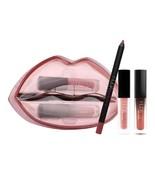 Big Mouth Lip Gloss Transparent Box Huda Lips Pencil 3 PCs Boxes Waterproof - $15.72