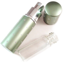 Travel Purse Spray Fragrance Perfume Atomizer Refillable Sage Green Dots... - $14.99