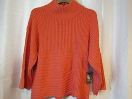 NWT Vince Camuto Salmon Cable Knit Sweater High Neck XL Org $89.00 - $37.99