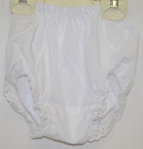 EmbroiderThis 130150 White Polyester Cotton Blend Bloomer Size 4
