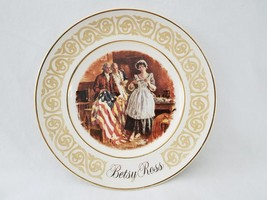 1973 Avon Betsy Ross 9 Inch Collectible Plate By Enoch Wedgwood England Tunstall - $24.99