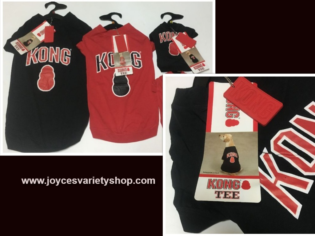 Kong Dog Tees Shirts Red or Black Many Sizes NWT