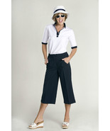 Stylish Golf & Casual Flat Panel Front Gaucho Pant, Swarovski Accent  - $24.95