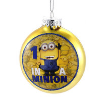 Despicable Me-Minion Ornament-Glass -Yellow One in a Minion!-Holiday! - $8.99