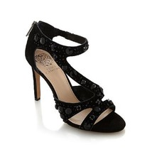 NEW VINCE CAMUTO KAYANNE BLACK  SUEDE JEWELED DRESS SANDALS  11 M - $54.44