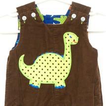 Bailey Boys Reversible Dinosaur Romper Longall 6 Months Brown Blue Cordu... - $24.52