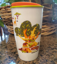 NWT Disney Starbucks Ceramic Travel Tumbler w Lid 2019 Animal Kingdom Sw... - $29.69