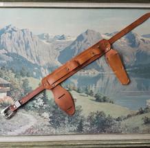 Vintage Childs Holster Belt Knife Belt Frontier Brown Leather Cowboy Wes... - $24.70