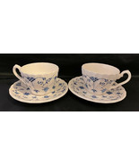 Myott Meakin Vintage Coffee Cups Tea Cups Made in England 2 Cups 2 Saucers - $24.75