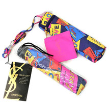 Yves St. Laurent YSL Umbrella with Case Showers of LOVE Pop Art NEW - $49.88