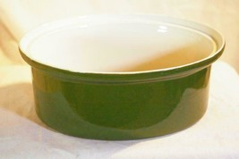 Hall Pottery Forest Green #1163 Oval Baker No Lid - $4.84