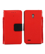 Alcatel One Touch Conquest 7046T Leather Wallet Pouch Case Cover - $14.99