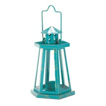 Aqua Lighthouse Mini Lantern - $17.51