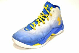 0eaf1dd7586 Under Armour Mens UA Curry 2.5 Dubnation White Blue Yellow 1274425 103 Size  11 -  79.95