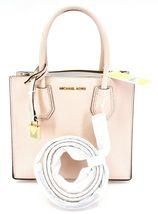 Michael Kors Mercer Soft Pink Pebbled Leather Medium Crossbody Messenger Bag image 6